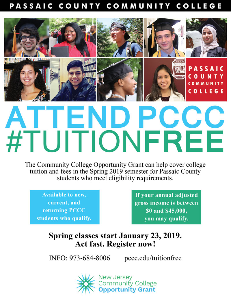 PCCC Free Tuition Flyer